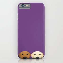 Tan Lab & Yellow Lab iPhone Case