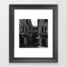 Calle Marcello b&w Framed Art Print