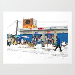 N1 to Dakar Art Print