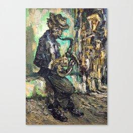 street musician saxophone Canvas Print