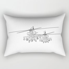Apache's flying Toon Render Rectangular Pillow