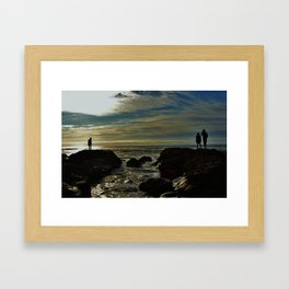 Watching and waiting Framed Art Print