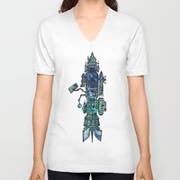 spaceship V-neck T-shirts featuring Spaceship  by Joseph Kennelty