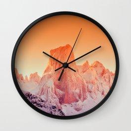 Naranjo de Bulnes at dawn in Picos de Europa National Park, Asturias, Spain Wall Clock