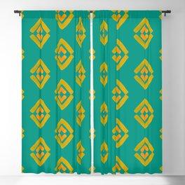 Watercolor Traveler's Geometric Pattern Blackout Curtain