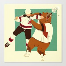The Hockey Fight Canvas Print