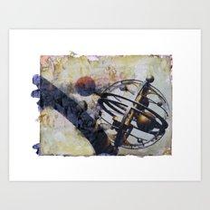 Astro Orbiter image transfer Art Print