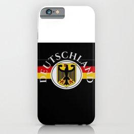 Deutschland ...German Flag and Eagle iPhone Case