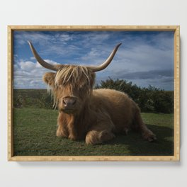 Rugged Highland Cow Serving Tray