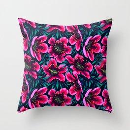 Manuka Floral Print Throw Pillow