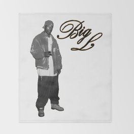 Big L //Black&White Throw Blanket