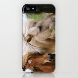 Iceland Horses iPhone Case