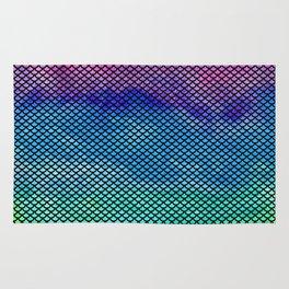 Rainbow Mermaid Tail Rug