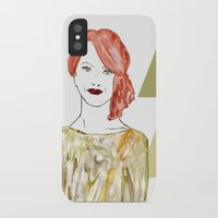 emma stone iPhone & iPod Cases featuring Emma by Kats Illustration