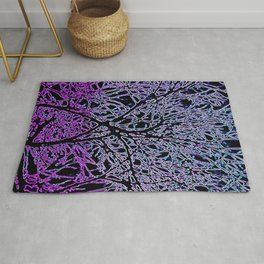 Tangled Tree Branches in Purple and Pink Rug