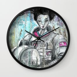 'Galaxy Geisha' Wall Clock