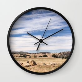 Dry meadows and rolling hills near Julian, CA Wall Clock