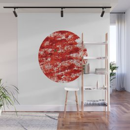 Flag of japan 3- Chalk version. Wall Mural