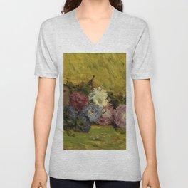 """Paul Gauguin """"Reine-marguerites, chapeau et livre"""" Unisex V-Neck"""