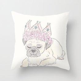 Party Pug Throw Pillow