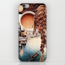 An American in Venice iPhone Skin
