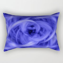 Background Flames Blue Rectangular Pillow