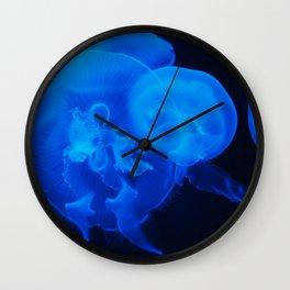 Blue Jelly Fish Wall Clock