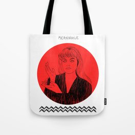 Laura Palmer MEANWHILE Twin Peaks Tote Bag