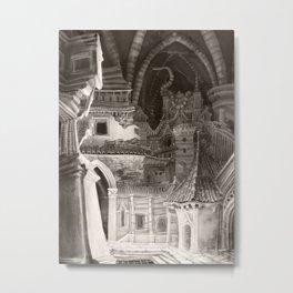 Fantasy Cityscape: Underground City Metal Print