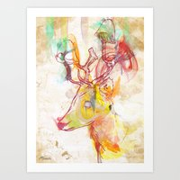 archan nair Art Prints featuring Maritza by Archan Nair