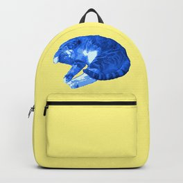 Beautiful Blue Cat Illustration Backpack