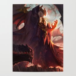 Dragon Master Swain League Of Legends Poster