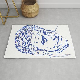Jon Stewart in Blue Lines and Shapes Rug