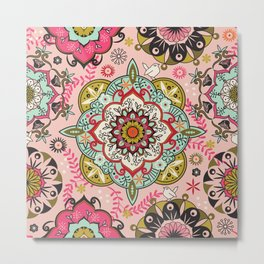 Mandala color pattern Metal Print