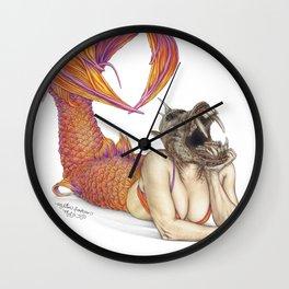The Devil's Mermaid Wall Clock