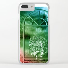 red and green light Clear iPhone Case