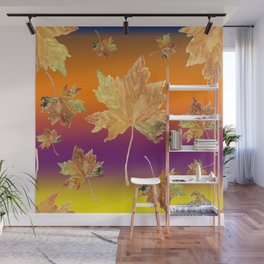 Sprigs of barberry and hawthorn Wall Mural