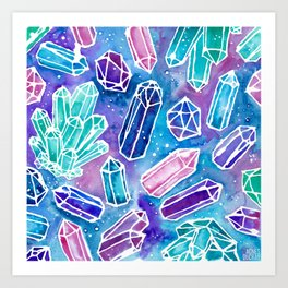 Space Crystals Art Print