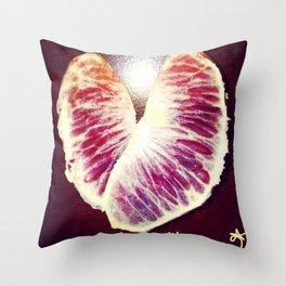 Blood Red Orange Heart Health Throw Pillow