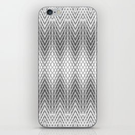 Cool Silver Grey Frosted Geometric Design iPhone Skin