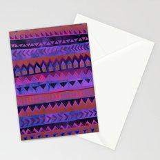 PATTERN {Tribal Stripe- Purple} Stationery Cards