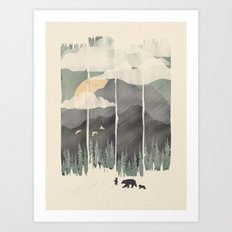 Spring Mountain Weather Art Print