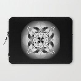 Mandala ~ Year of the Goat (black & white) Laptop Sleeve