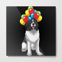 Funny Tornjak Dog With Balloons Metal Print