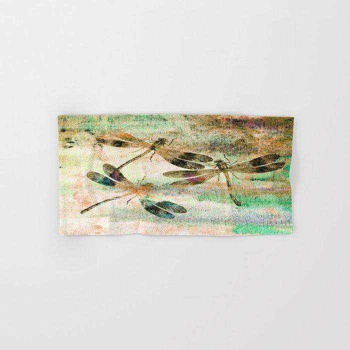 Mauritius Vintage Dragonflies QR Hand & Bath Towel