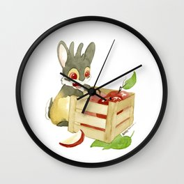 Apple Crate Wall Clock