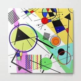 Retro Crazy - Abstract, random, crazy, geometric, colourful artwork Metal Print