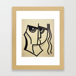 Black Ink, 2. Framed Art Print