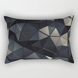 Polygon Noir Rectangular Pillow