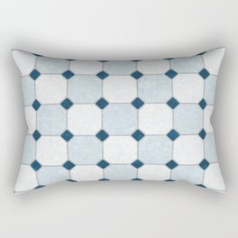 Sky Blue Classic Floor Tile Texture Rectangular Pillow